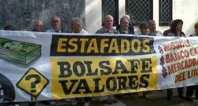 Manifestación de los damnificados por la estafa Bolsafé