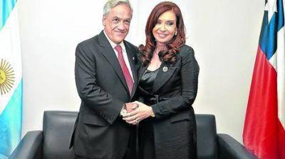 Cristina involucró al presidente de Chile en el conflicto con LAN