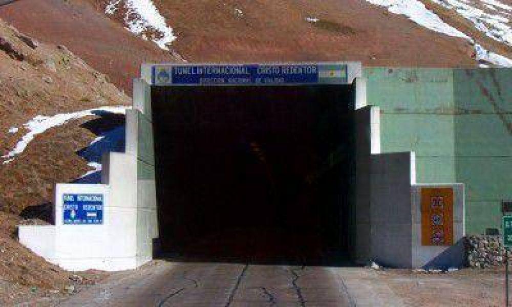 Se cerró el paso a Chile por un temporal que afectó a la zona de los caracoles