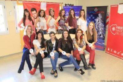 Se presentaron las 12 candidatas a reina de la 34º Fiesta Nacional del Esquí