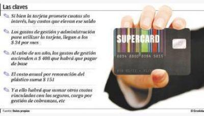 Supercard: ofrece 12 cuotas sin inter�s, pero se termina pagando un 60% m�s