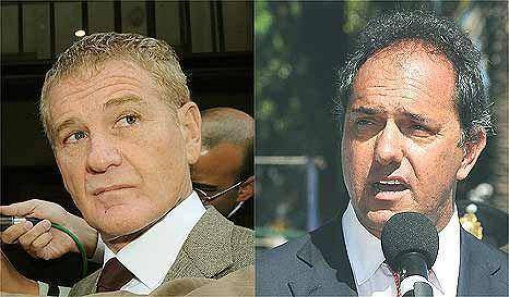 Scioli y De Narváez se sacan chispas por el voto peronista en Buenos Aires