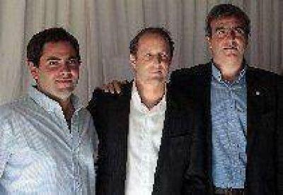 Durañona y Casares con Scioli e Insaurralde