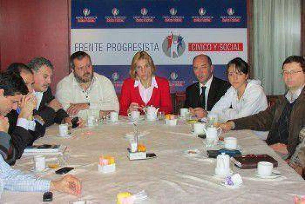 Reunión de referentes del Frente Progresista Cívico y Social de Mar del Plata