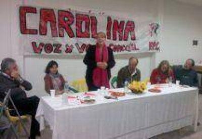 Stolbizer: La candidata a diputada nacional visit� Monte