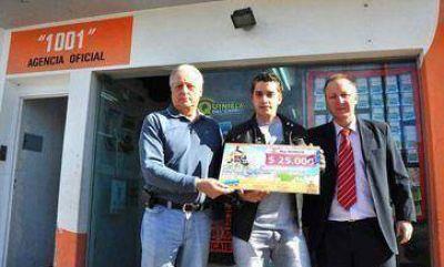 Lotería entregó premios en Rawson y Puerto Madryn