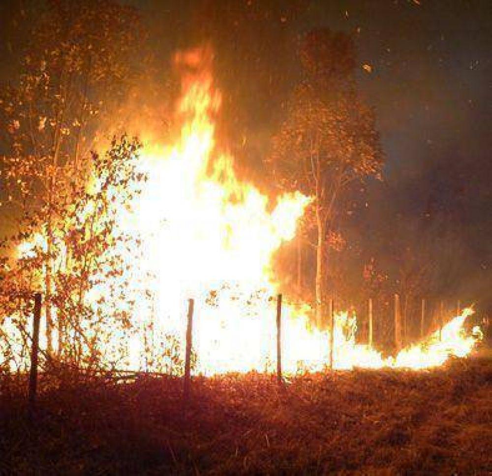 La lucha contra el fuego continúa en La Lucrecia