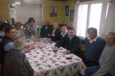Patricio Hogan visitó Necochea, Ayacucho y Quequén