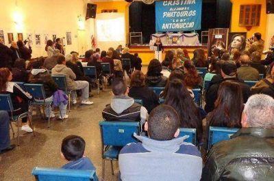 Nuevo San Martín y CPF expusieron una muestra en homenaje a Evita