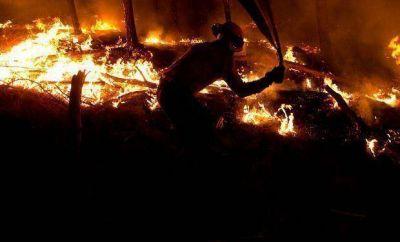 Córdoba: Controlan el fuego que se desató en Traslasierra