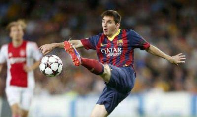 Barcelona gole� a Ajax con tres tantos de Messi
