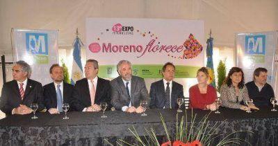 """West y Scioli recorrieron """"Moreno Florece"""""""