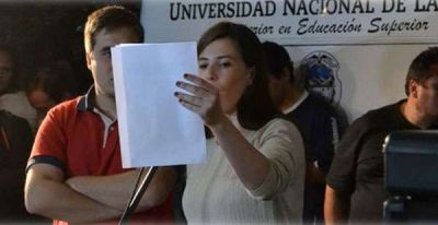 Alumnos de la UNLaR aclaran que no pidieron la intervención
