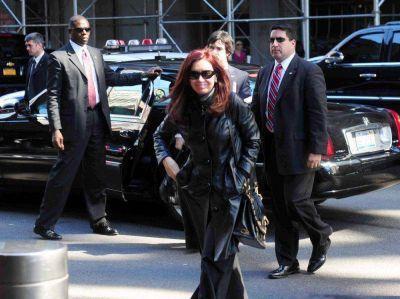 Cristina lleg� a Nueva York para participar en la Asamblea de la ONU