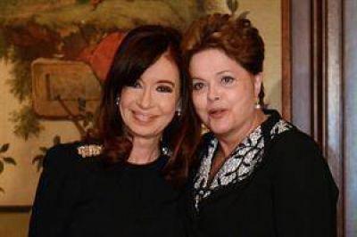 Cristina acercó posiciones con Dilma y criticó a los fondos buitre