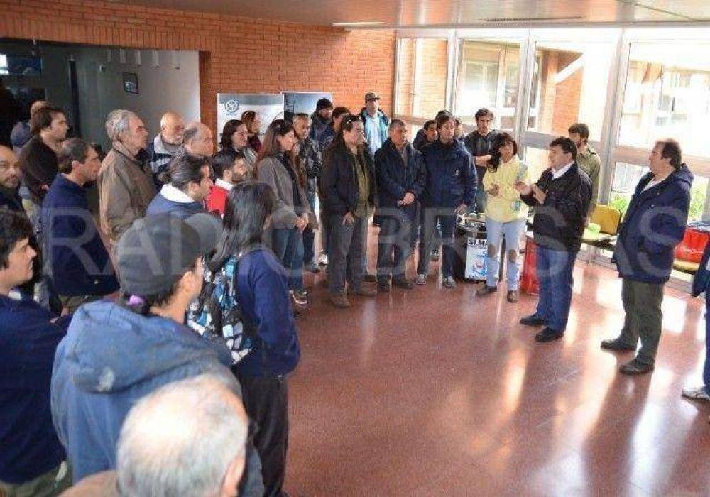 Movilización de trabajadores dentro del INIDEP