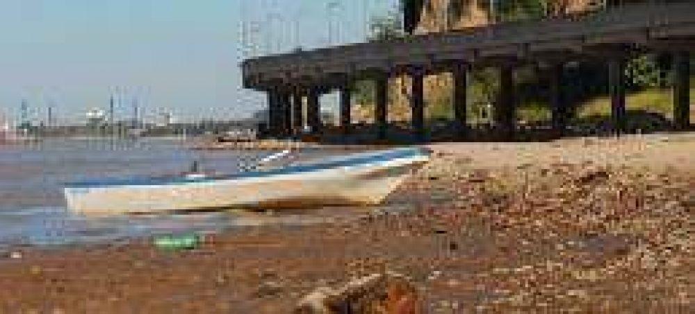 Por la sequía, el nivel del Paraná ya llegó a la peor bajante del año