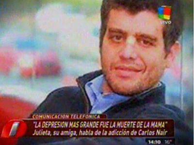 """Habló una amiga de Carlitos Nair: """"Usaba parches de morfina"""""""