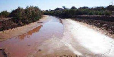 El Bermejo con menos agua que el año pasado