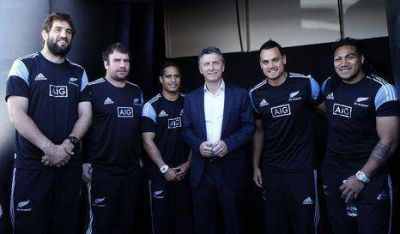Macri participó en evento con los All Blacks