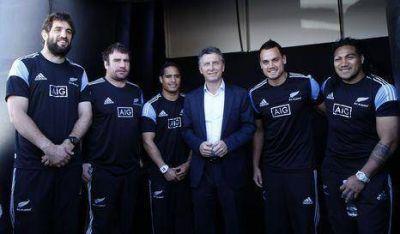 Macri participó en evento con los All Blacks
