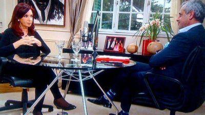 El rating de la entrevista a Cristina Kirchner fue mejor que el del sábado pasado