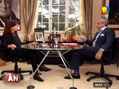 Cristina con Rial: volvió a negar que haya cepo cambiario y admitió que le gustaba Menem