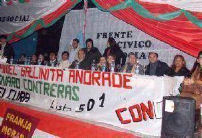 El FCyS presentó sus candidatos en la ciudad de Belén
