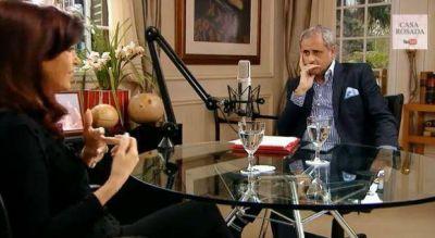 """CFK con Rial: """"En la interna del 89 yo quería estar con Menem y él con Cafiero"""""""