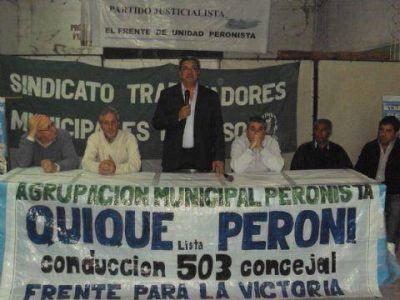 El Intendente junto a candidatos del FpV se reunieron con la familia municipal de la Franja