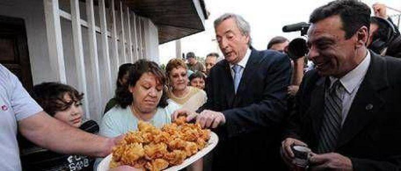 "Kirchner, en Z�rate: ""Soy optimista, sin triunfalismos"""