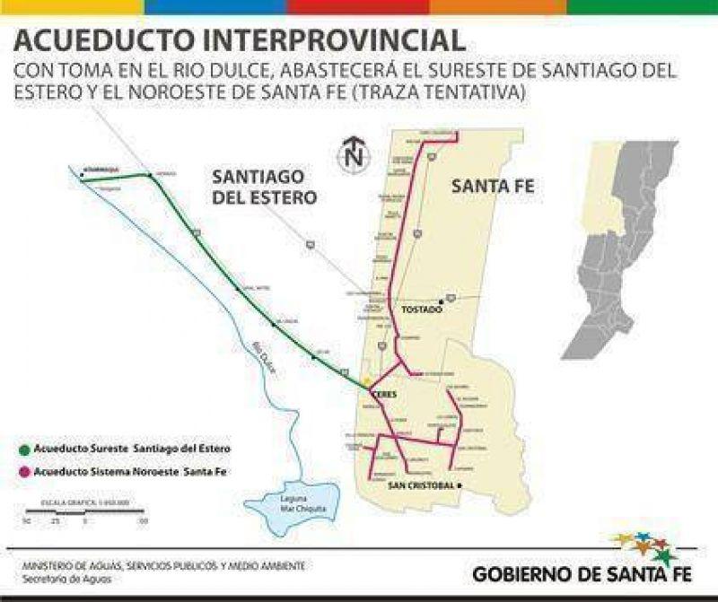 Santa Fe y Santiago del Estero pusieron en marcha la construcción de un acueducto interprovincial