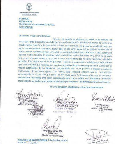 Fuerte desmentida a Clarín por los niños con pecheras de Unidos y Organizados