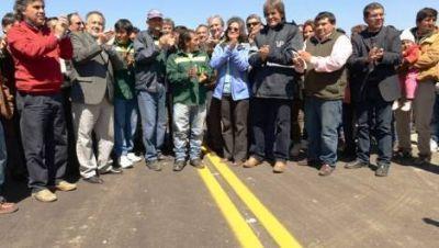 Corpacci inauguró un nuevo tramo de la ruta 36 en Belén