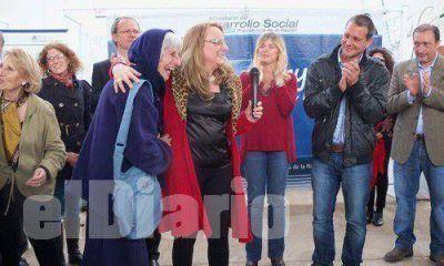 Alicia Kirchner llegó para apuntalar la campaña del FpV
