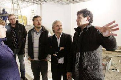 Los candidatos del FpV Curuchet y Daniel Rodríguez recorrieron las obras del CEF