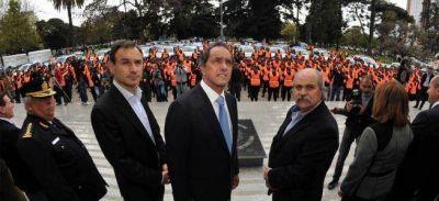 Con patrulleros, motos y caballos, Granados lanzó su plan de seguridad para La Plata