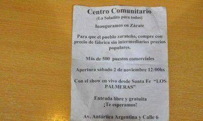 """Preocupación de los comerciantes de Zarate por la posible instalación de una """"Saladita"""""""