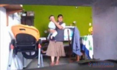 Niñera goyana acusada de maltratar a un menor declaró y quedó en libertad