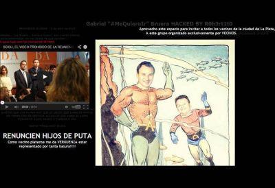 Hackearon el sitio web y la cuenta de Twitter de Gabriel Bruera