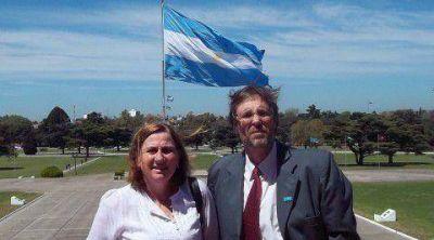 Los candidatos Adriana Rosso y Marcelo Sánchez participaron del homenaje al General Perón
