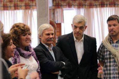 Domínguez y Caló con Daniel Rodríguez y candidatos del Frente para la Victoria