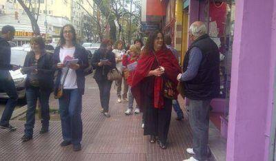 Naddeo junto a comerciantes de Villa Crespo