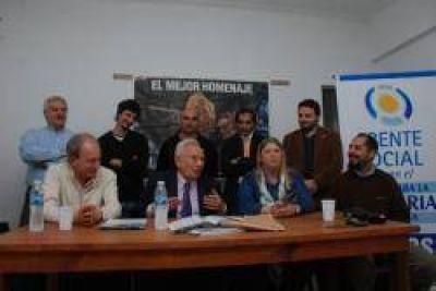 RECALDE EN NECOCHEA CON CANDIDATOS DEL FRENTE SOCIAL