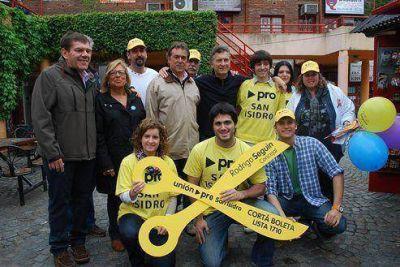 Macri acompa�� a los candidatos de San Isidro