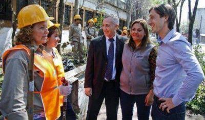 "Letcher supervisó obras del programa ""Argentina Trabaja"" en San Martín"