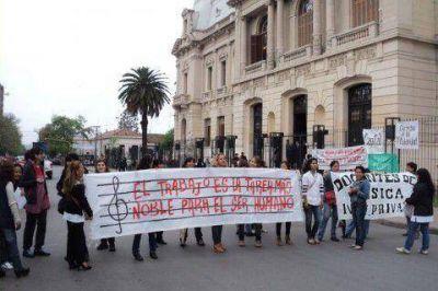 Maestros de música de Jujuy volvieron a protestar y reclamar por su titularización