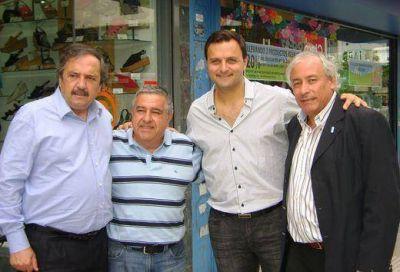 Alfonsín de visita en San Martín puso en la mira al Frente Renovador