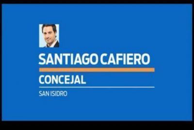 Scioli apoya a Santiago Cafiero con un spot televisivo