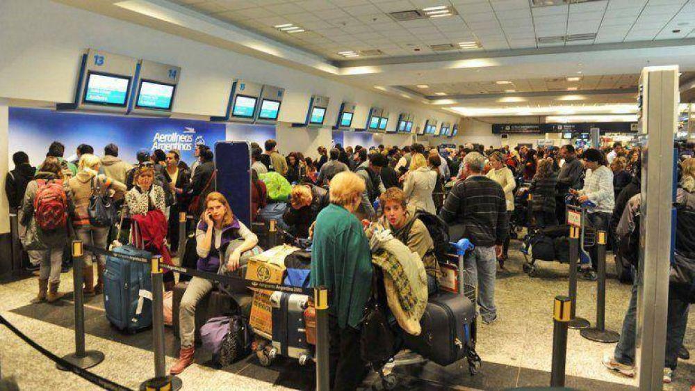 Una huelga de aeronavegantes afectó vuelos en Aeroparque